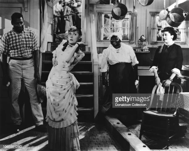 Actress Irene Dunne Paul Robeson Hattie McDaniel Helen Morgan in a scene from the movie Show Boat