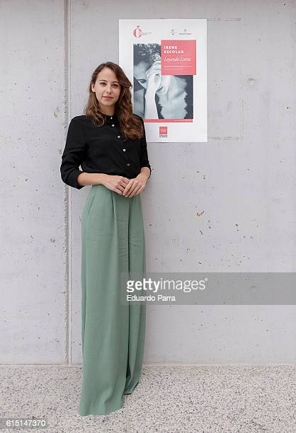 Actress Irene Escolar attends a portrait session at Teatros del Canal on October 17 2016 in Madrid Spain