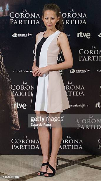 Actress Irene Escolar attends 'La Corona Partida' photocall at Verdi cinema on February 16 2016 in Madrid Spain