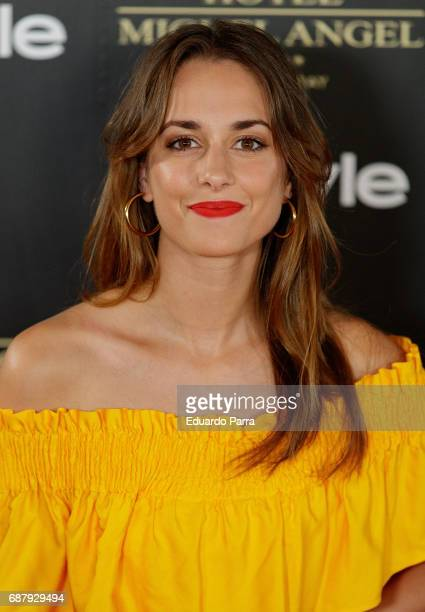 Actress Irene Escolar attends the 'El Jardin del Miguel Angel' party photocall at Miguel Angel hotel on May 24 2017 in Madrid Spain
