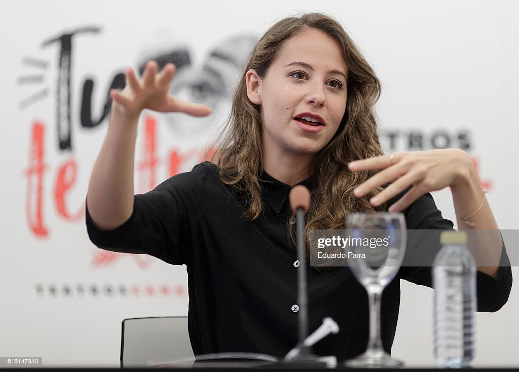 Actress Irene Escolar attends the 'Leyendo Lorca' press conference at Teatros del Canal on October 17, 2016 in Madrid, Spain.