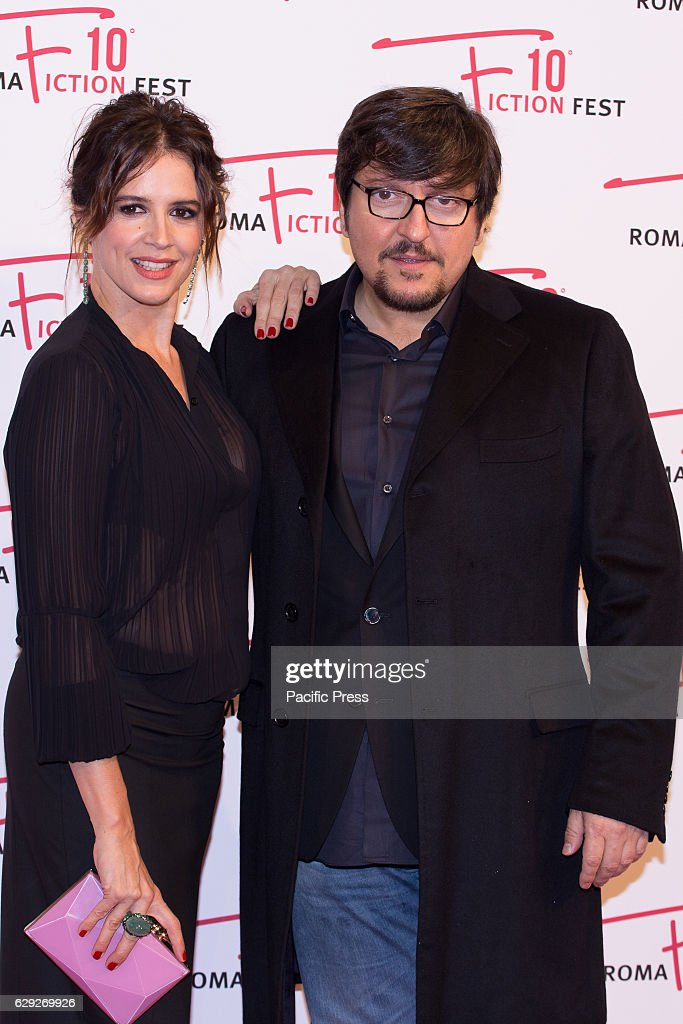 Actress Irene Ferri and actor Ricky Memphis arrive on the... : Nachrichtenfoto