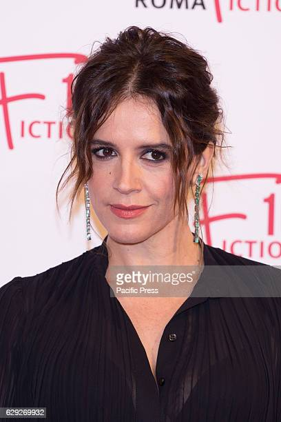 Actress Irene Ferri arrives on the red carpet for Immaturi La Serie during the 2016 Rome Fiction Fest