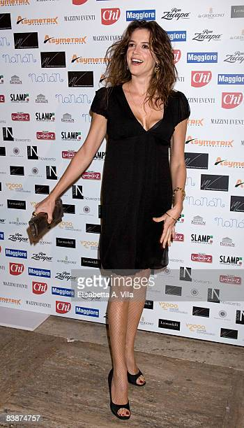 Actress Irene Ferri attends Children For Peace charity event at the Spazio Novecento on December 1 2008 in Rome Italy