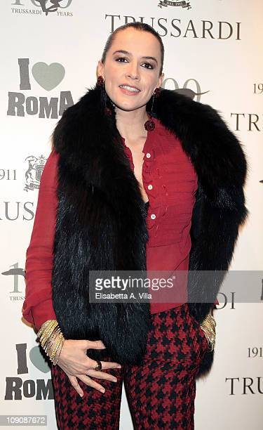 Actress Irene Ferri attends I Love Roma Trussardi 1911 Flagship Store Opening Cocktail Party on February 14 2011 in Rome Italy