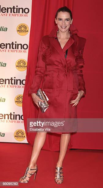 Actress Irene Ferri attends Valentino The Last Emperor premiere at Embassy Cinema on November 16 2009 in Rome Italy