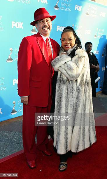 Actress Irene Mama Stokes and Judge Craig Strong arrive at the 39th NAACP Image Awards held at the Shrine Auditorium on February 14 2008 in Los...