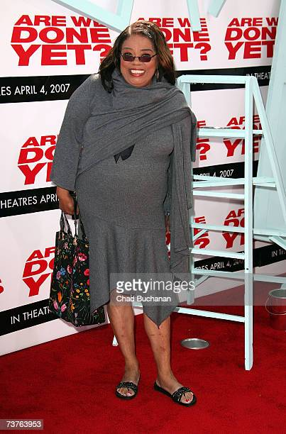 Actress Irene Mama Stokes arrives at the Sony Pictures premiere of the film 'Are We Done Yet' at The Mann Village Theatre April 1 2007 in Westwood...