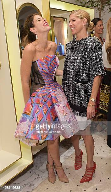 Actress Irene Neuwirth and stylist Petra Flannery attend the Irene Neuwirth Flagship Grand Opening on October 30 2014 in West Hollywood California