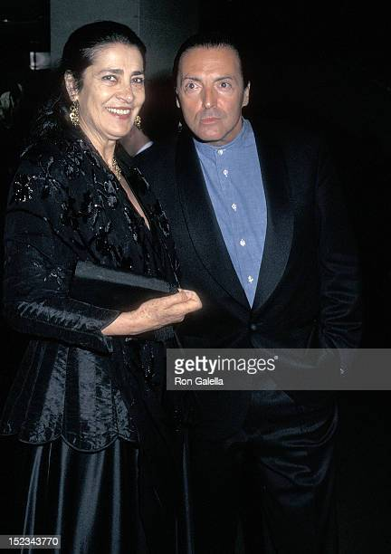 Actress Irene Papas and actor Armand Assasnte attend the Screening of the NBC Miniseries The Odyssey on May 13 1997 at the Museum of Modern Art in...