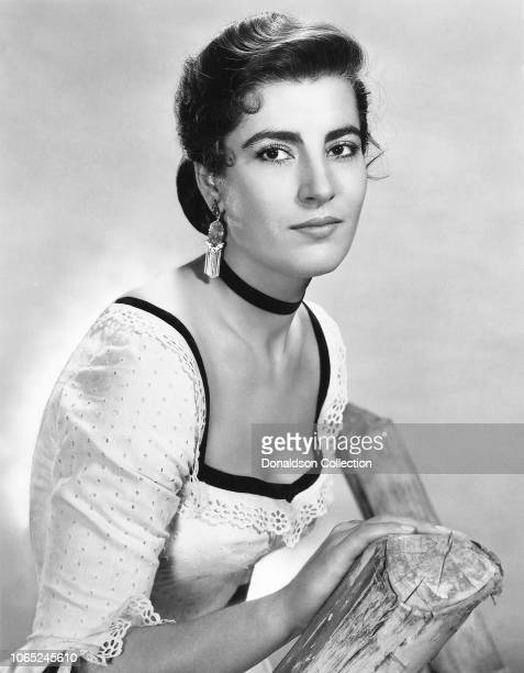 Actress Irene Papas in a scene from the movie Tribute to a Bad Man