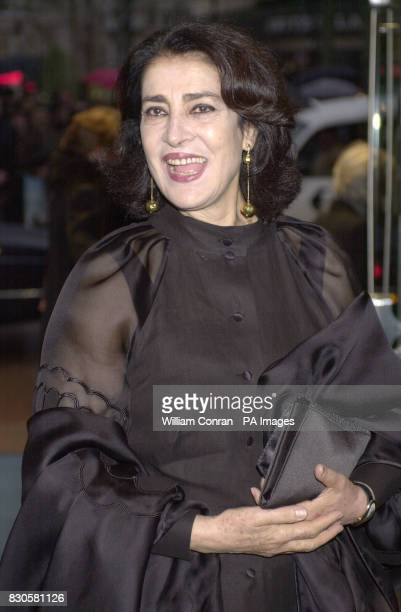 Actress Irene Papas, who stars in the film, arriving for the World charity premiere of 'Captain Corelli's Mandolin', at the Odeon cinema, in...