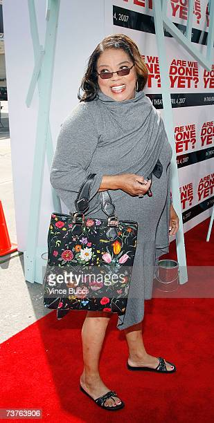 Actress Irene Stokes arrives at the Sony Pictures premiere of the film Are We Done Yet at The Mann Village Theatre April 1 2007 in Westwood California