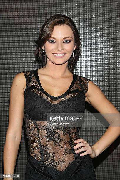 """Actress Irina Baeva attends the """"Pasion y Poder"""" press conference at Live Aqua Bosques on October 1, 2015 in Mexico City, Mexico."""
