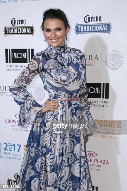 Actress Irina Baeva poses during the 46th Diosas de Plata movie awards at Metropolitan Theater on April 25 2017 in Mexico City Mexico