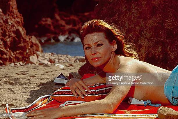 Actress Irina Demick in a scene from the movie 'The Sicilian Clan', 1969.