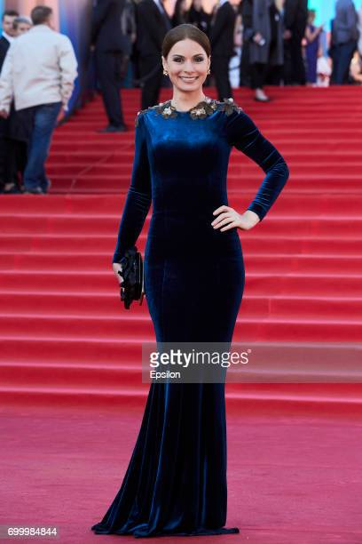 Actress Irina Lachina attends opening of the 39th Moscow International Film Festival outside the Karo 11 Oktyabr Cinema on June 22 2017 in Moscow...