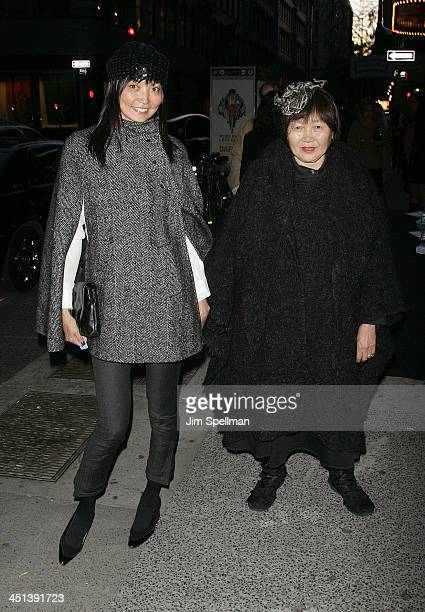 Actress Irina Pantaeva and her mother attend the Cinema Society screening of Multiple Sarcasms at AMC Loews 19th Street East 6 theater on April 19...