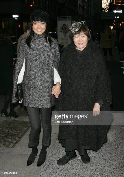 Actress Irina Pantaeva and her mother attend the Cinema Society screening of 'Multiple Sarcasms' at AMC Loews 19th Street East 6 theater on April 19...