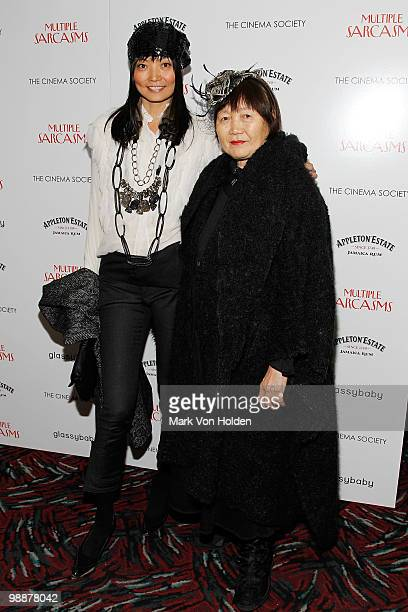Actress Irina Pantaeva and her mother attend The Cinema Society screening of 'Multiple Sarcasms' at AMC Loews 19th Street on April 19 2010 in New...