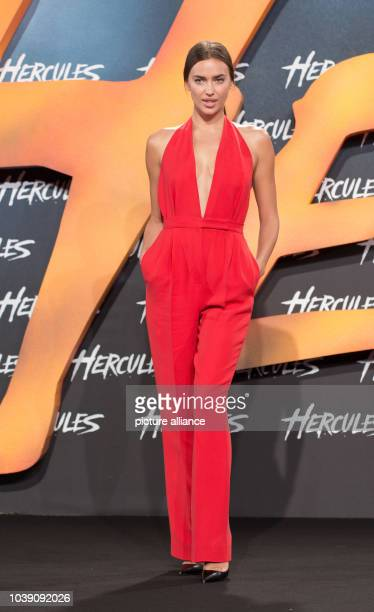 """Actress Irina Shayk arrives to the European Premiere of the movie """"Hercules"""" at Cinestar in Berlin, Germany, 21 August 2014. The movie comes to..."""