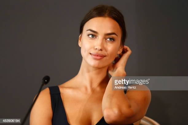 Actress Irina Shayk attends the press conference of Paramount Pictures 'HERCULES' at Hotel Adlon on August 21 2014 in Berlin Germany