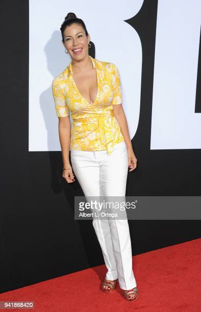 Actress Iris Almario arrives for the Premiere Of Universal Pictures' Blockers held at Regency Village Theatre on April 3 2018 in Westwood California