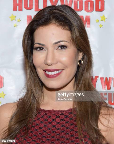 Actress Iris Almario attends 'ANNETTE America's Girl Next Door and the Queen of Teen exhibit opening night preview at The Hollywood Museum on...