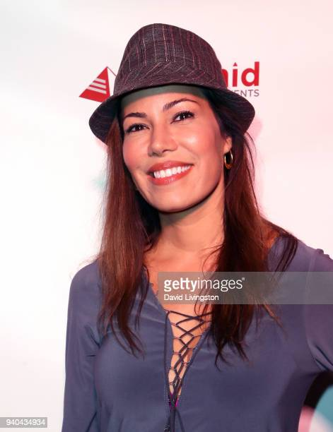 Actress Iris Almario attends the 6th Annual Rock Against MS benefit concert and award show at the Los Angeles Theatre on March 31 2018 in Los Angeles...