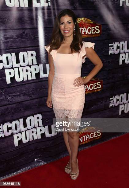 Actress Iris Almario attends The Color Purple Los Angeles engagement celebration at the Hollywood Pantages Theatre on May 29 2018 in Hollywood...