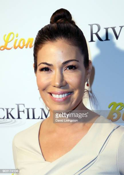 Actress Iris Almario attends the premiere of Bachelor Lions at ArcLight Hollywood on January 9 2018 in Hollywood California