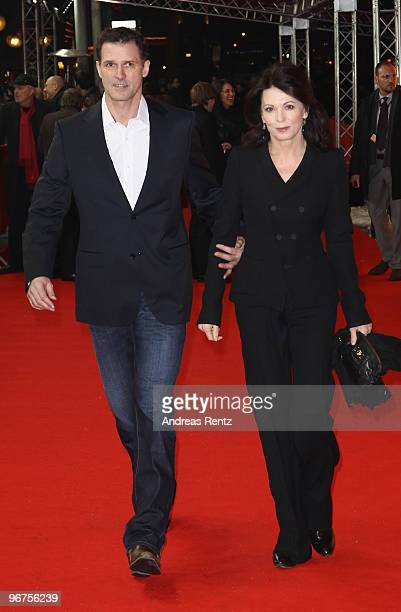 Actress Iris Berben and Heiko Kiesow attend the 'Boxhagener Platz' Premiere during day six of the 60th Berlin International Film Festival at the...
