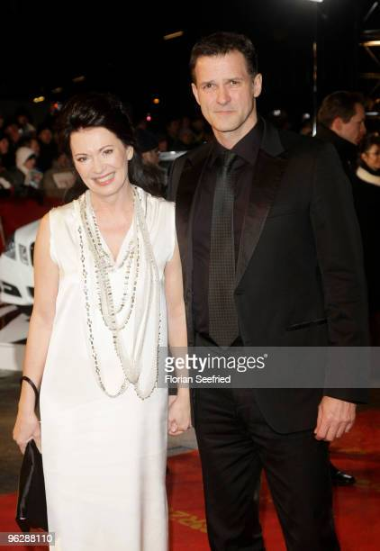 Actress Iris Berben and partner Heiko Kiesow attend the Goldene Kamera 2010 Award at the Axel Springer Verlag on January 30 2010 in Berlin Germany