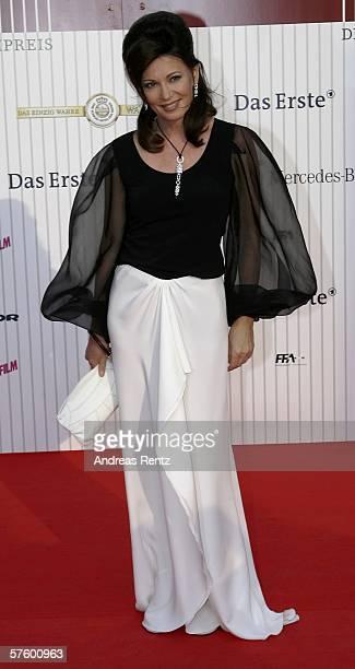 Actress Iris Berben attends the German Film Awards at the Palais am Funkturm May 12 2006 in Berlin Germany