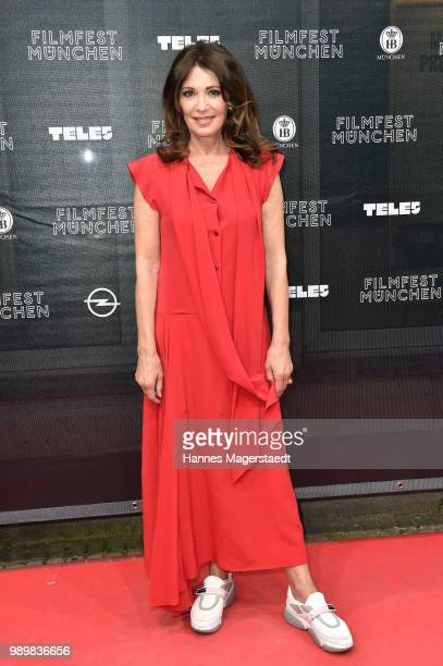 Actress Iris Berben attends the premiere of the movie 'Hanne' as part of the Munich Film Festival 2018 at Gloria Palast on July 2, 2018 in Munich,...