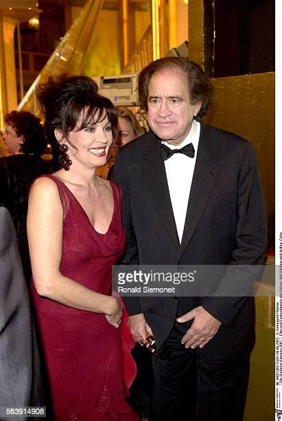 Actress Iris Berben with producer Arthur Cohn