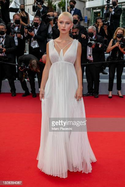 """Actress Iris Law attends the """"The French Dispatch"""" screening during the 74th annual Cannes Film Festival on July 12, 2021 in Cannes, France."""