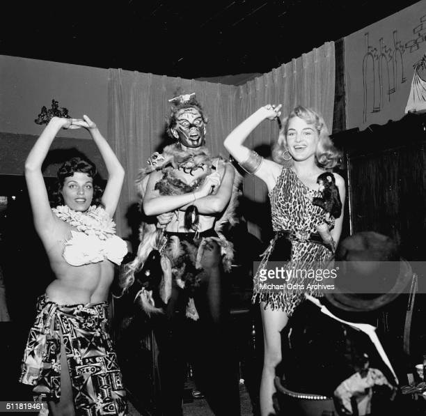 Actress Irish McCalla attends a Halloween party in Los AngelesCA