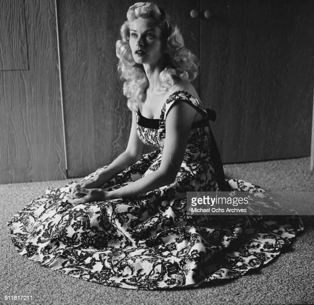 Actress Irish McCalla poses at home in Los AngelesCA