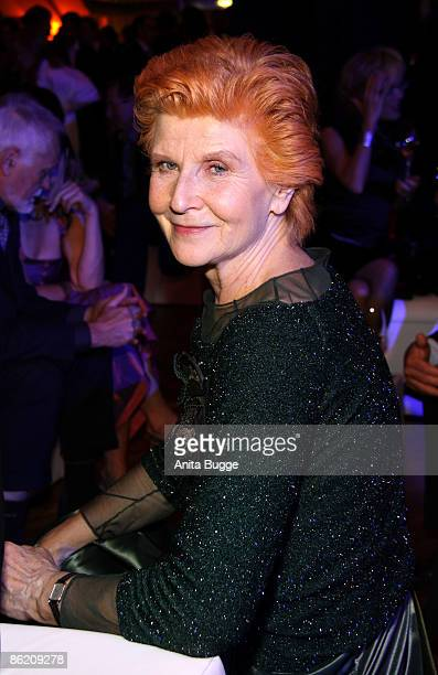 Actress Irm Hermann attends the German Film Award 2009 after party at the Palais am Funkturm on April 24 2009 in Berlin Germany