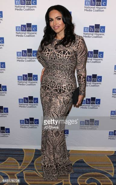 Actress Isabel Cueva attends the 20th Annual National Hispanic Media Coalition Impact Awards Gala at Regent Beverly Wilshire Hotel on February 24...