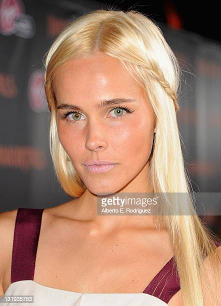 Actress Isabel Lucas arrives at Relativity Media's Immortals premiere presented in RealD 3 at Nokia Theatre LA Live at Nokia Theatre LA Live on...