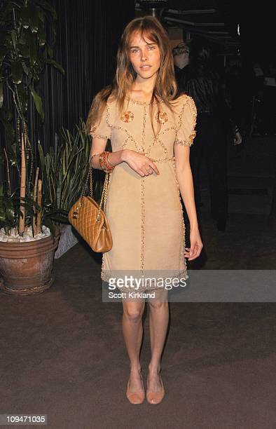 Actress Isabel Lucas arrives at the Chanel Charles Finch PreOscar Dinner Celebrating Fashion Film at Madeo Restaurant on February 26 2011 in Los...