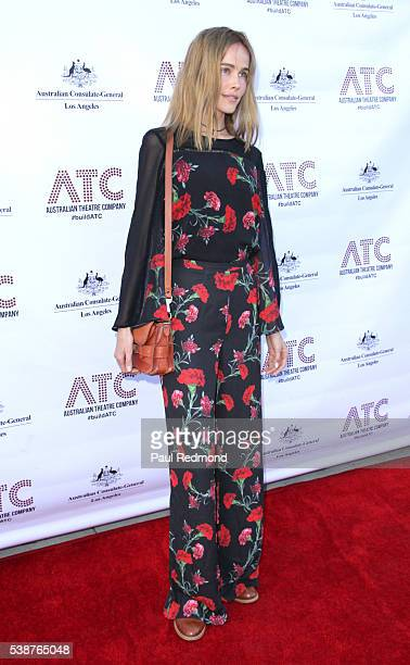Actress Isabel Lucas arrives at the opening night of Australian Theatre Company's 'Ruben Guthrie' at The Matrix Theatre on June 7 2016 in Los Angeles...