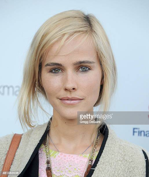 Actress Isabel Lucas arrives at the premiere Of 'That Sugar Film' hosted by Australians In Film on July 20 2015 in Los Angeles California