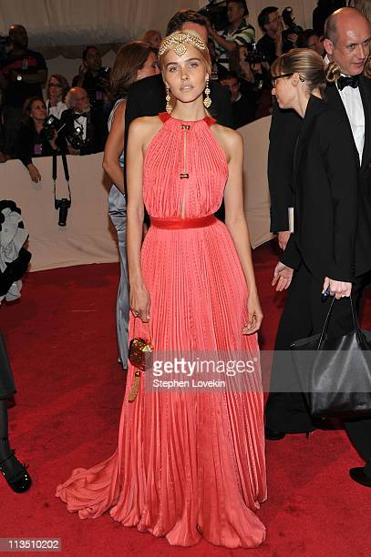 Actress Isabel Lucas attends the Alexander McQueen Savage Beauty Costume Institute Gala at The Metropolitan Museum of Art on May 2 2011 in New York...