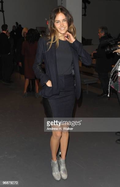 Actress Isabel Lucas attends the Calvin Klein Fall 2010 Fashion Show during MercedesBenz Fashion Week at 205 West 39th Street on February 18 2010 in...