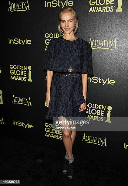 Actress Isabel Lucas attends the Hollywood Foreign Press Association and InStyle's celebration of the 2015 Golden Globe award season at Fig Olive...