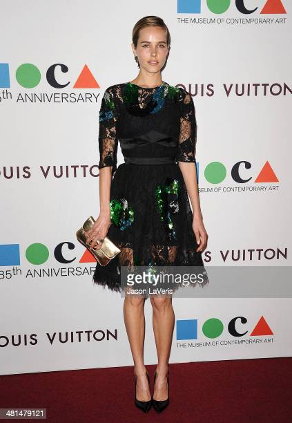 Actress Isabel Lucas attends the MOCA 35th anniversary gala celebration at The Geffen Contemporary at MOCA on March 29 2014 in Los Angeles California