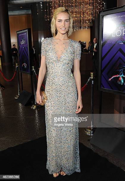 Actress Isabel Lucas attends the screening of Open Road Films' 'The Loft' at Directors Guild Of America on January 27 2015 in Los Angeles California